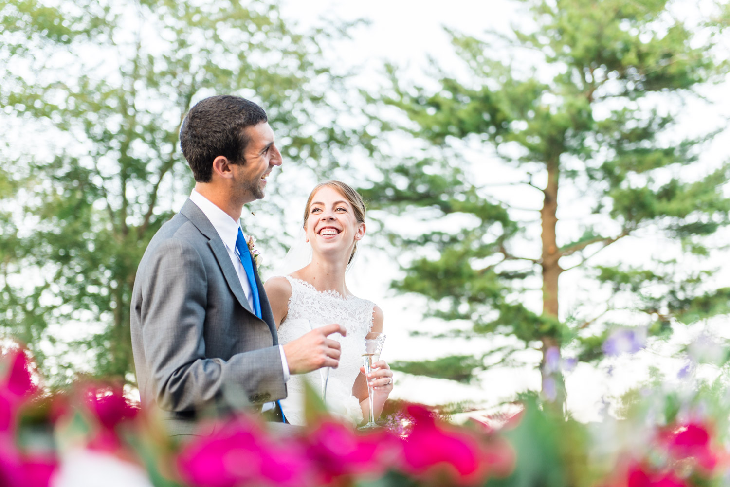 Bride and Groom at Ipswich Country Club | Boston Wedding and Portrait Photography for the Openhearted | Lorna Stell Photo