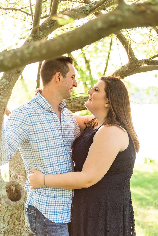 Katelyn + Joe | Summer Sunset Lake Quannapowitt Wakefield Engagement Session | Boston and New England Wedding Photography | Lorna Stell Photo