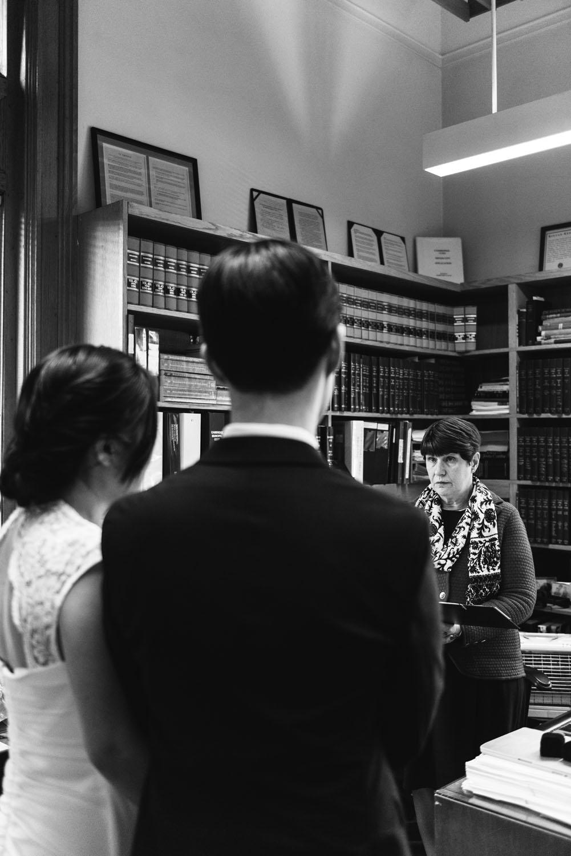 Yunsoo + Won   Intimate Cambridge City Hall Autumn Wedding   Boston and New England Wedding Photography   Lorna Stell Photo