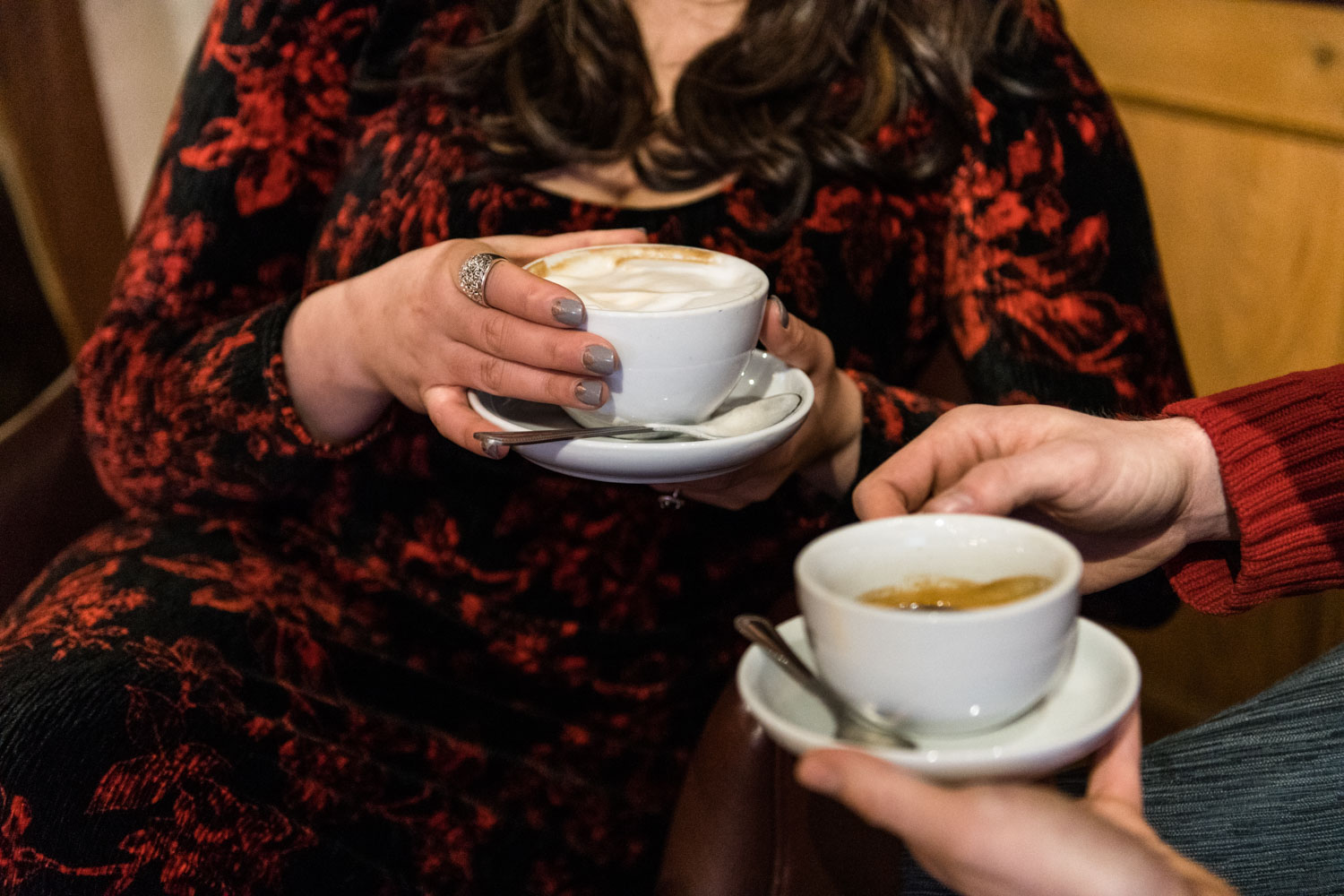 Andrea + Scott | Dog Lovers Cafe Coffee Shop Formal Spring Sunrise Creative Organic Romantic Engagement Session | Boston and New England Engagement Photography | Lorna Stell Photo