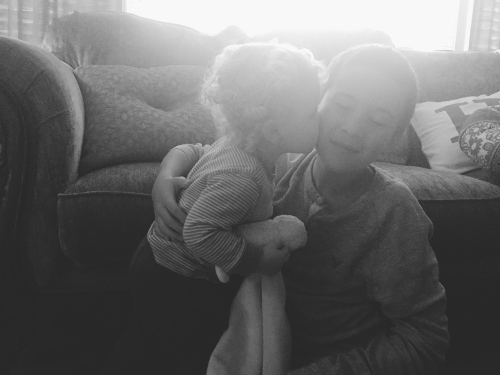 This picture of E with his older cousin melts my heart! He adores the 'big boys', and they love him right back. He is also enamored with my sweet niece and loves to play with her!