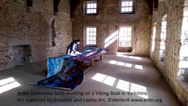 18 UK Yorkshire Viking Boat painting Zsuzsanna Ardó materials GreatArt and Loxley Art.jpg