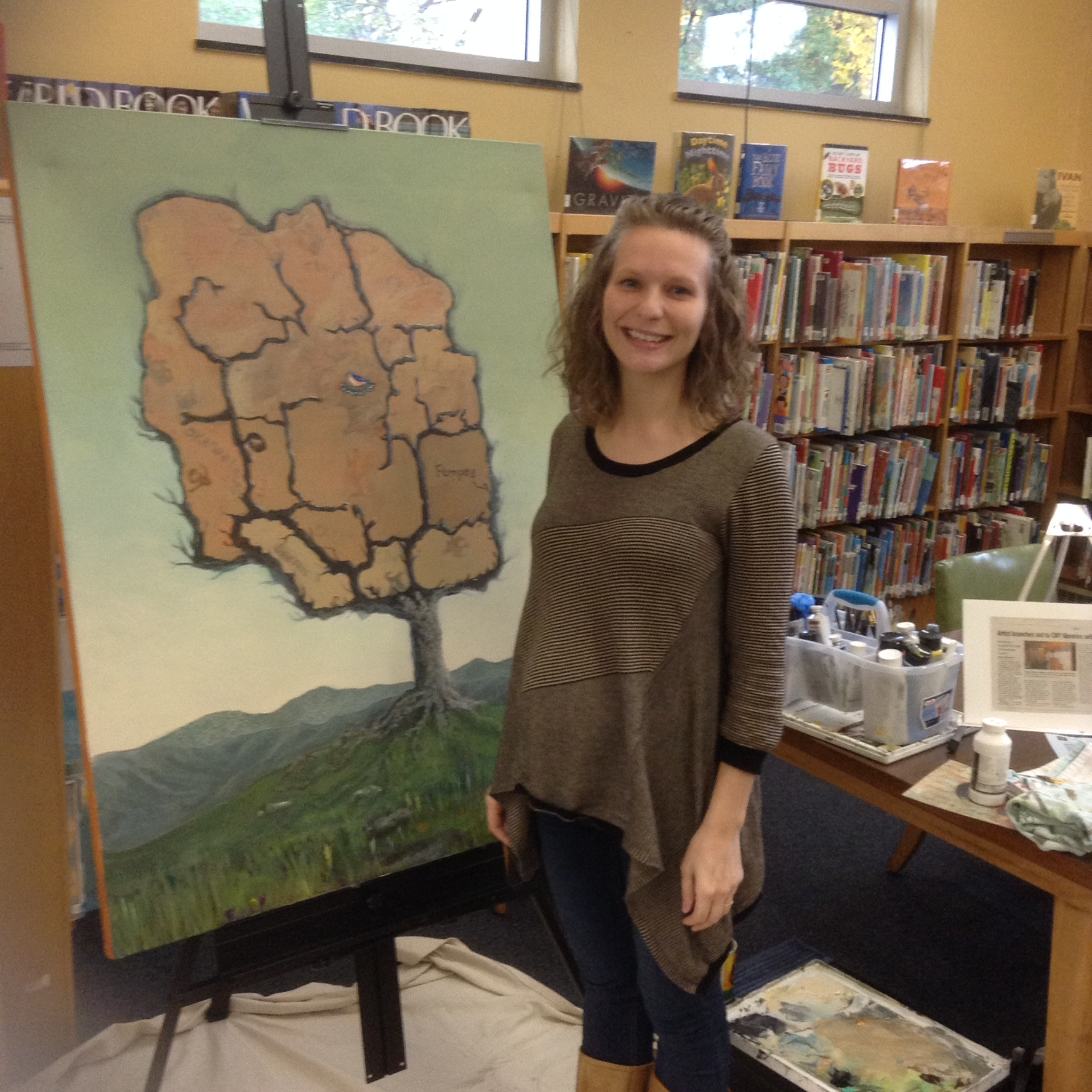 Stasya Erickson at the Petit Library