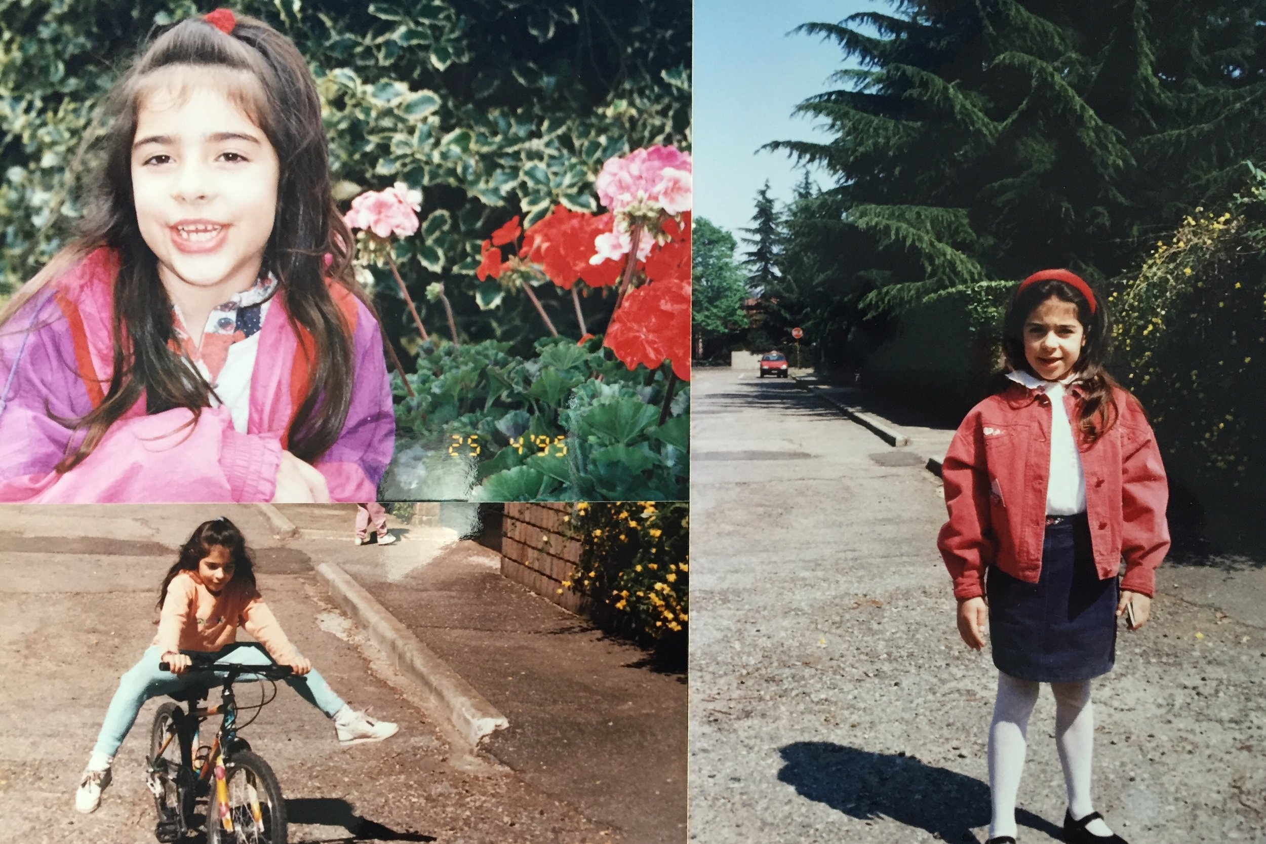 My eight years old self in front of my parent's house in Carnate, Italy.