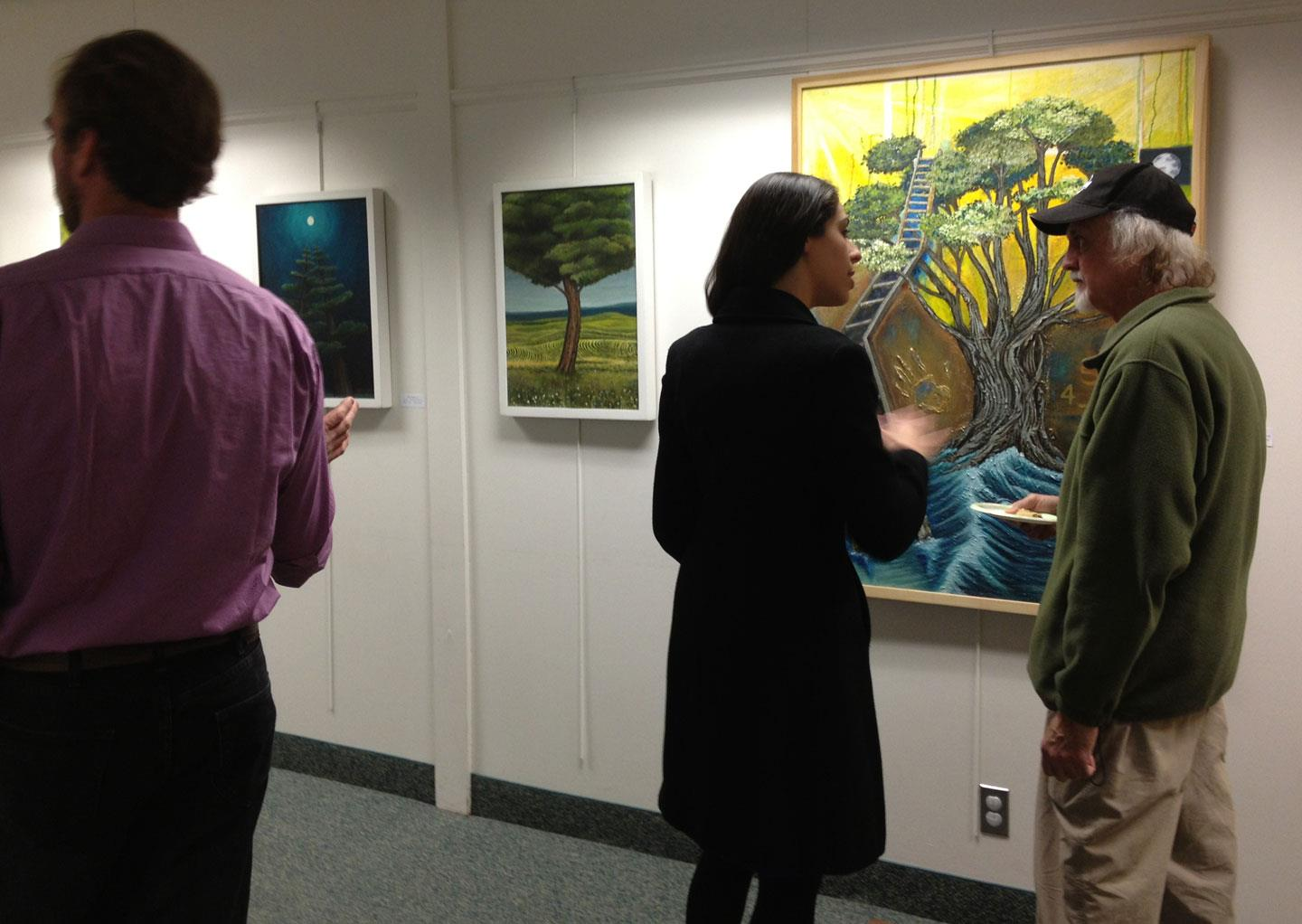 2012 - Opening for Tree: Totems of Life at the Maxwell Memorial Library in Camillus, NY.