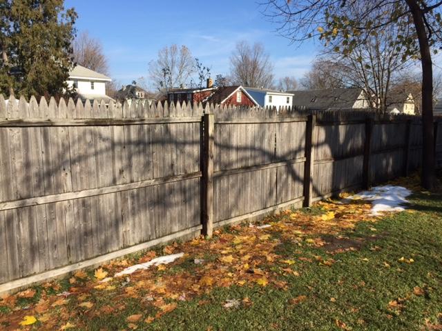 Shadows on Fence