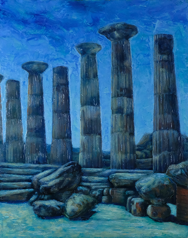Greek Temple of Agrigento at Night