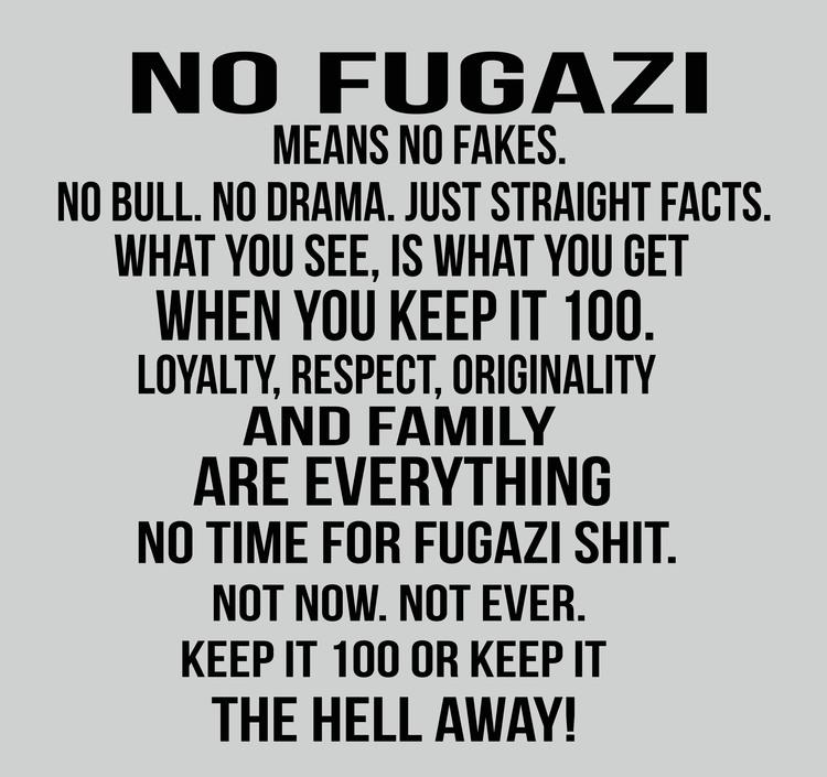 NO FUGAZI GWGSHOP