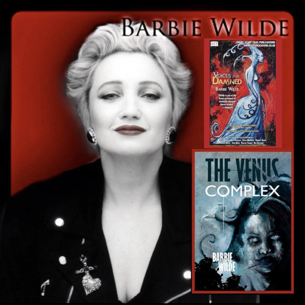 (BW photo by Robin Chaphekar, The Venus Complex cover artwork by Daniele Serra, Voices of the Damned cover artwork by Clive Barker)