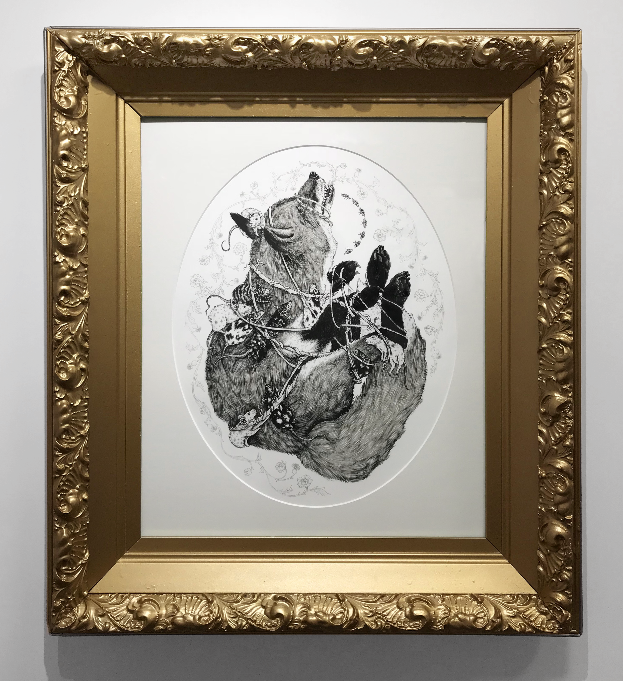 The Body Grows Outside  | Framed in an antique found frame |  shop