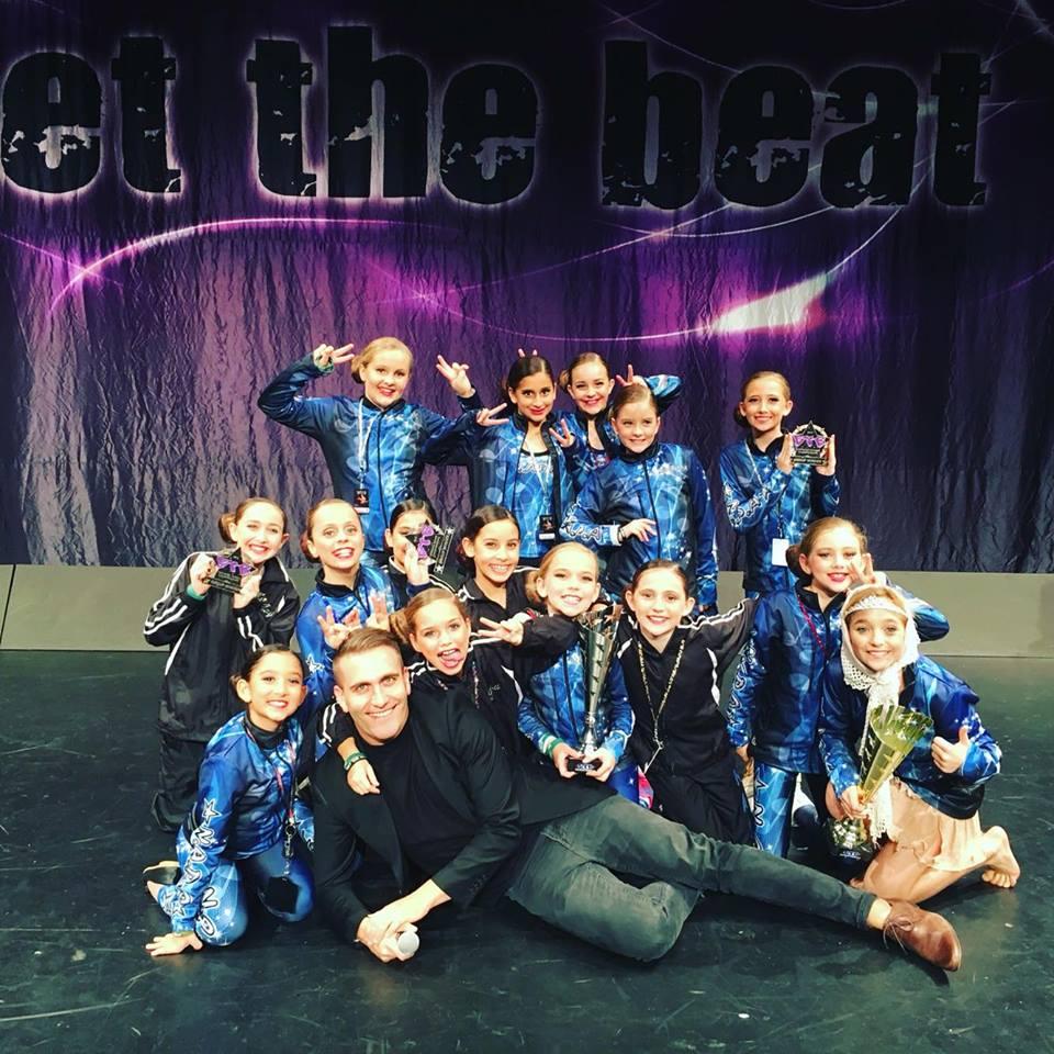 2016 under 10's jazz team - highest scoring intermediate group at Get the Beat (Fraser Coast)