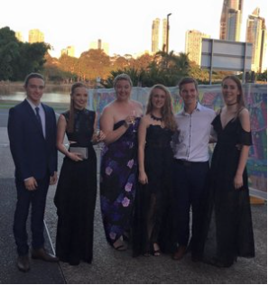 Nominees at the 2016 GC Theatre Awards -  Ethan, Miss Madi, Miss Amy, Chloe, Rhys and Ruby
