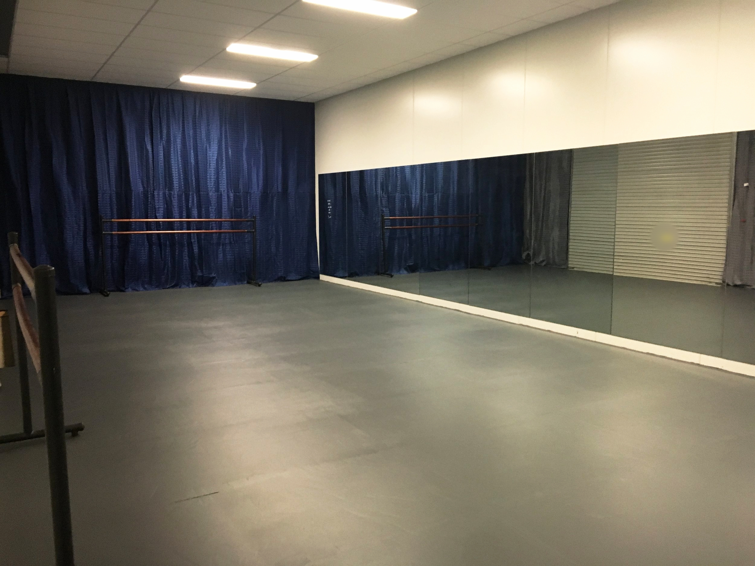 '42nd St' - Tap and Ballet Studio has speciality flooring, ballet barres and full length mirrors. $35 an hour.