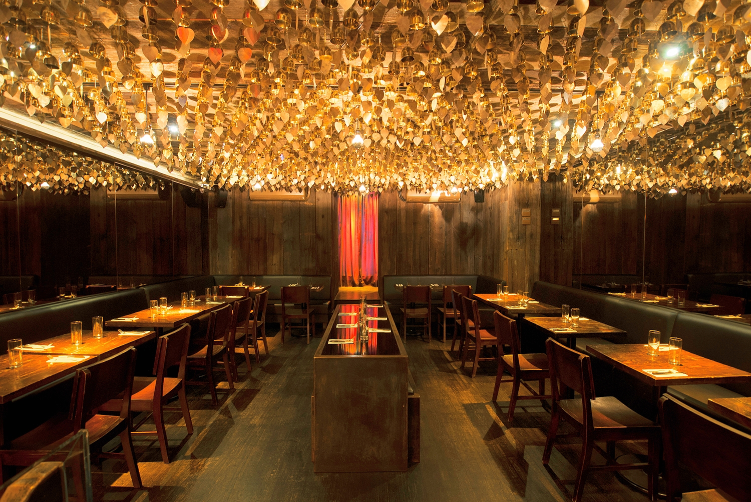 Golden bell room at Hell's kitchen