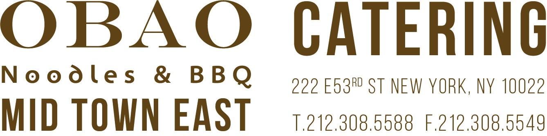 OBAO Midtown CATERING CATERING HEADLINE