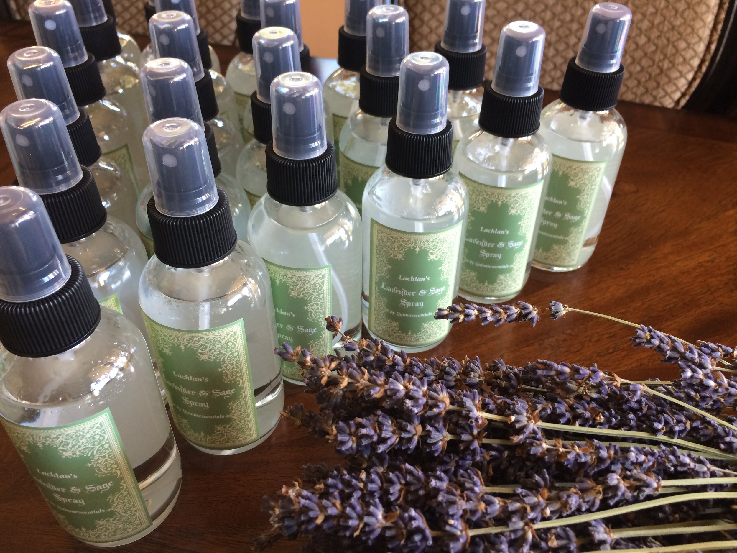 Lachlan's Lavender & Sage sprays were created for a very special baby blessing to welcome a water warrior to the world.