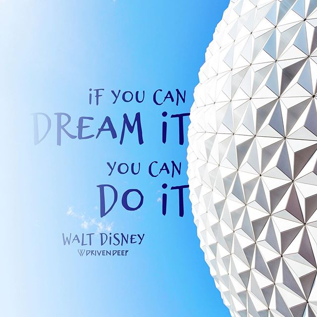 """""""If you can dream it, you can do it"""" —Walt Disney  Never has this quote been more true then it is today. We live in a day where science fiction of the past is now our reality. We live in a day where companies are striving to land on Mars. We live in a day where you can make a living doing almost anything. We live in a day that allows the human mind to dream like never before.   Because of these things I am so grateful to live in this day. Never has the world been so connected and never has the potential for goodness to spread been so great!  Now is the time to dream big and make the world a better place!  www.DrivenDeep.com  #lds #ldsconf #generalconference #waltdisney #disney #mickeymouse #waltdisneyworld #disneyland #slc #byu #sharegoodness #dreambig"""