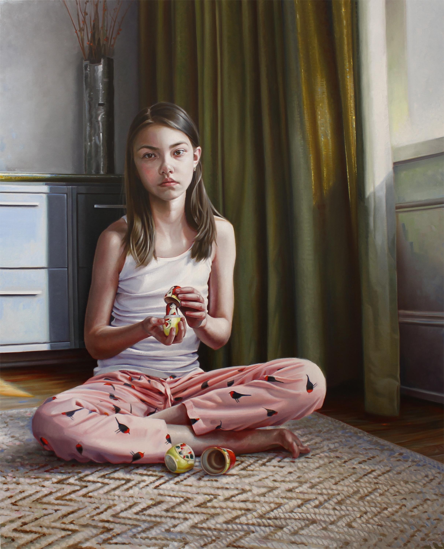 "DANIELA KOVACIC - ""The Knowledge"", oil on canvas 201760"" x 48""$7,000"
