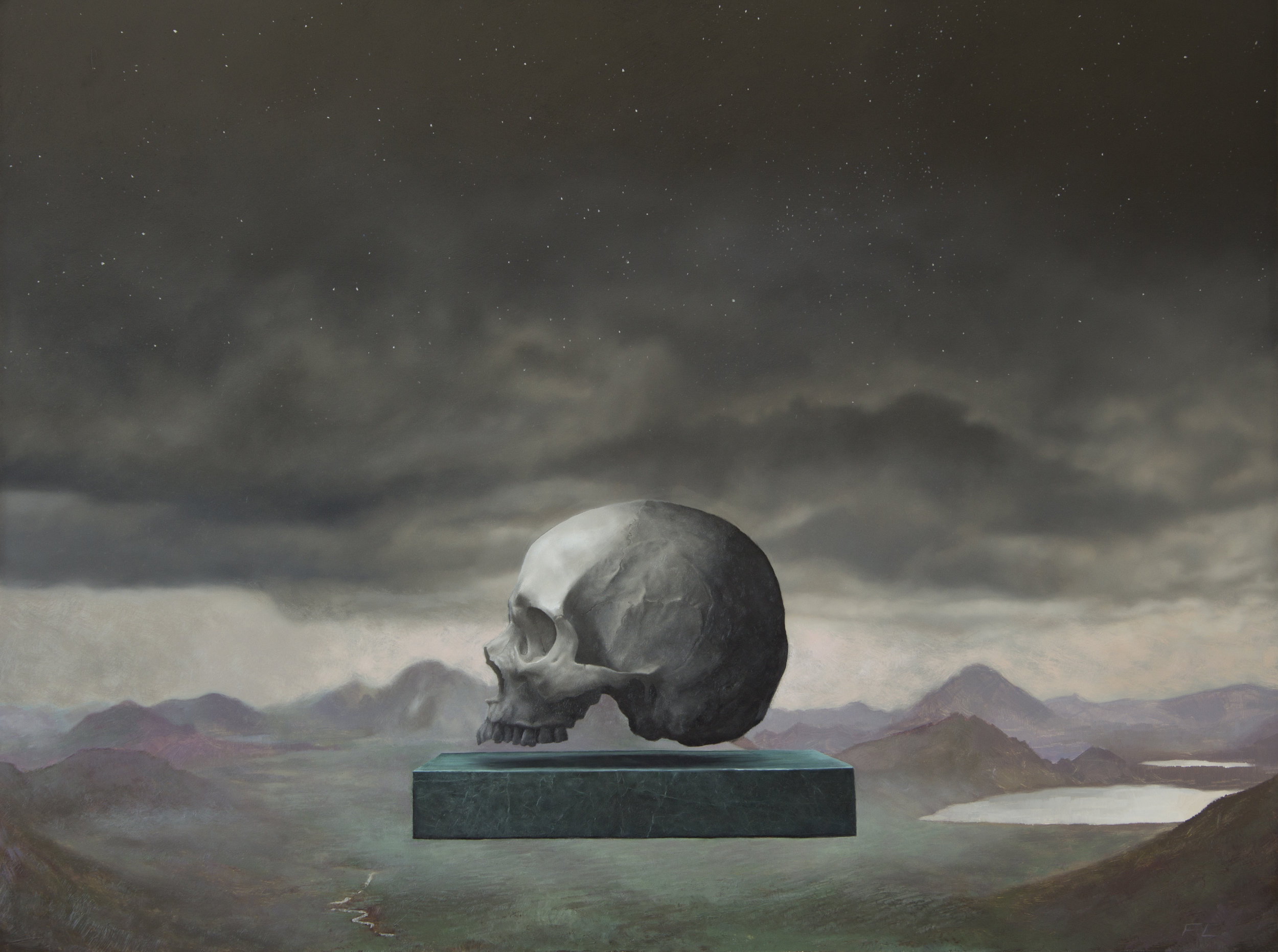"FRANCESCO LOMBARDO - ""Memento Mori"", oil on canvasFramed 19"" X 25""$2,700"