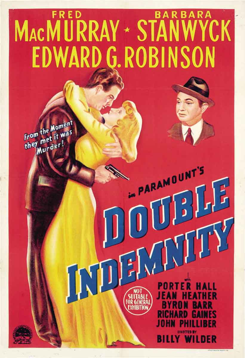 Double Indemnity  (1944) dir. Billy Wilder Rated: N/A image: ©1944  Paramount Pictures