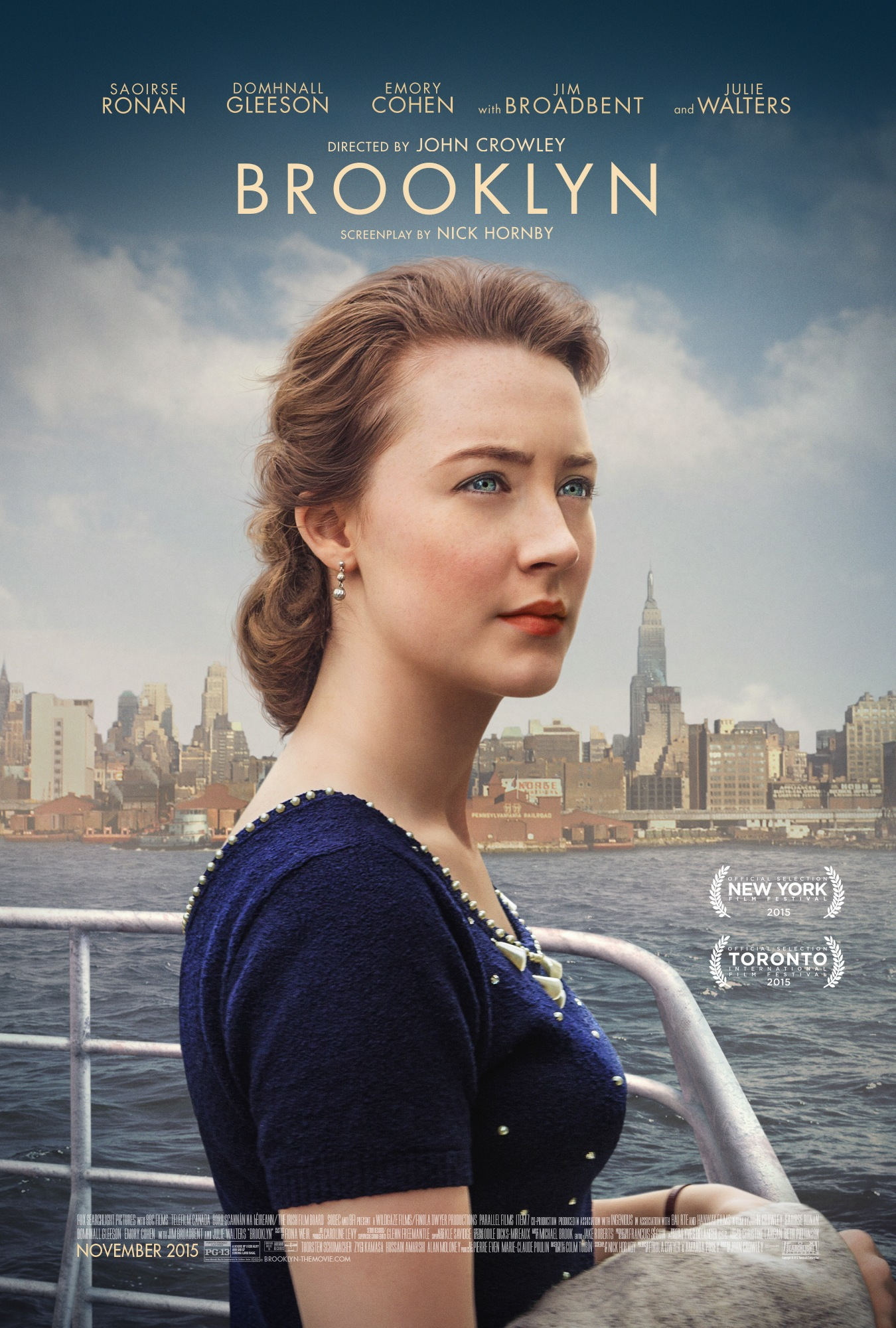 Brooklyn   (2015) dir. John Crowley Rated: PG-13 image:©2015  Fox Searchlight Pictures