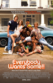 Everybody Wants Some!!   (2016) dir. Richard Linklater Rated: R image:  ©2016  Paramount Pictures