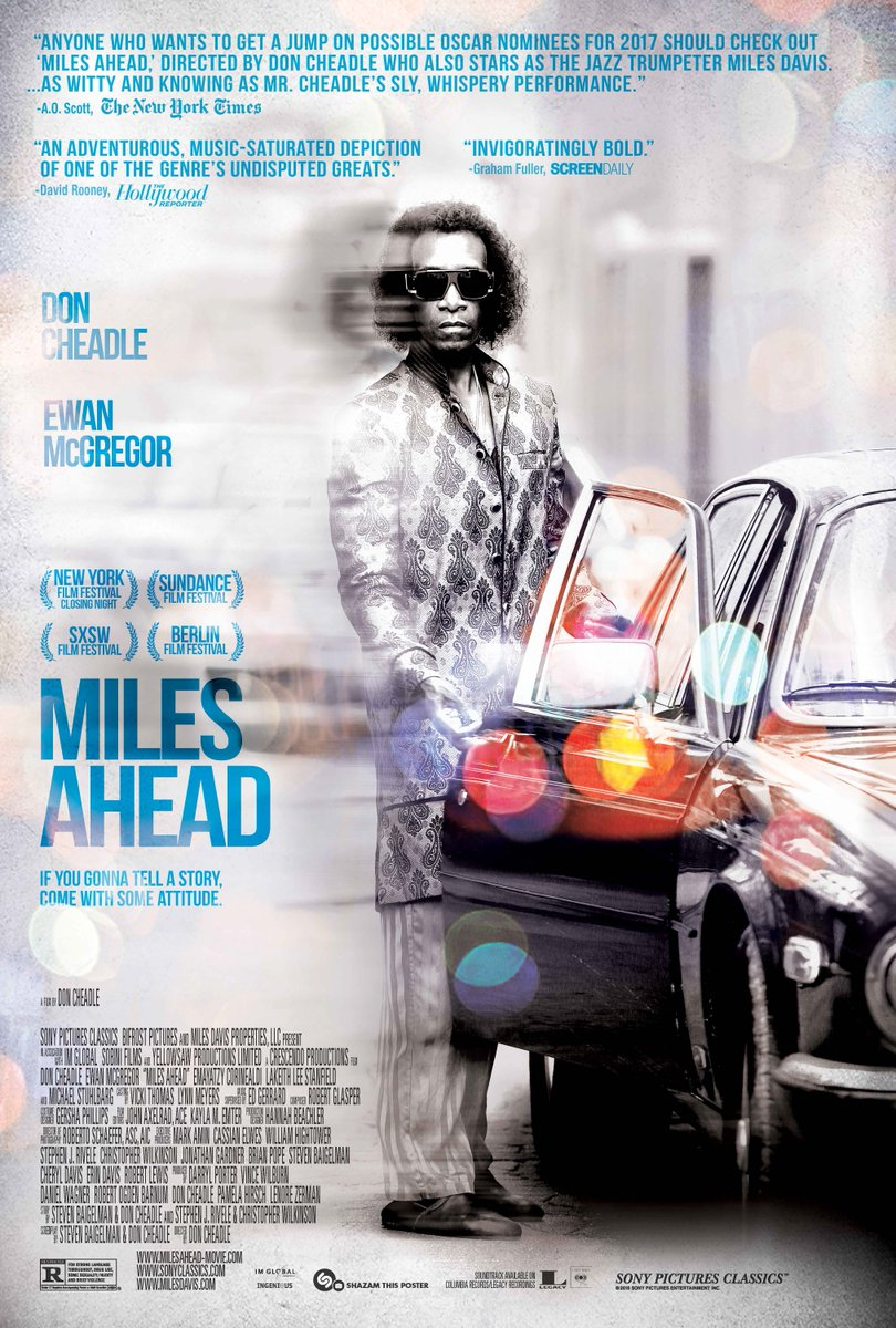 Miles Ahead   (2016) dir. Don Cheadle Rated: R image:©2016  Sony Pictures Classics