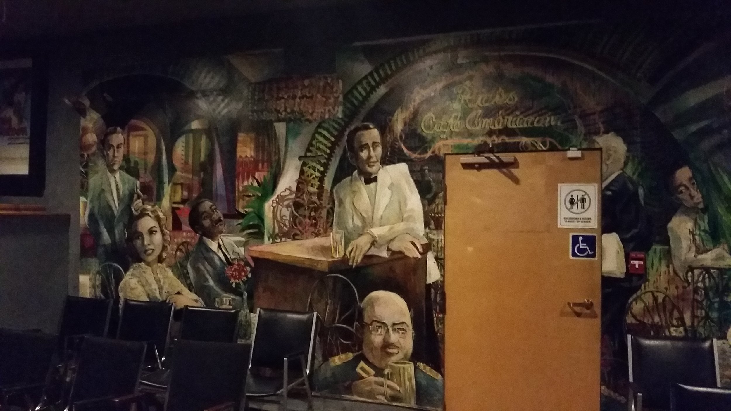 One of the murals from the now-closed Casablanca restaurant.