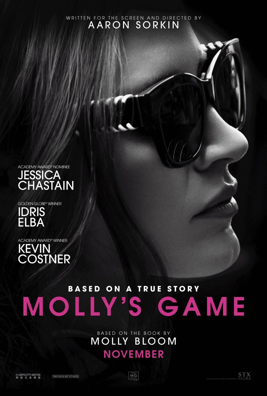 Molly's Game   (2017) dir. Aaron Sorkin Rated: R image:©2017  STX Entertainment