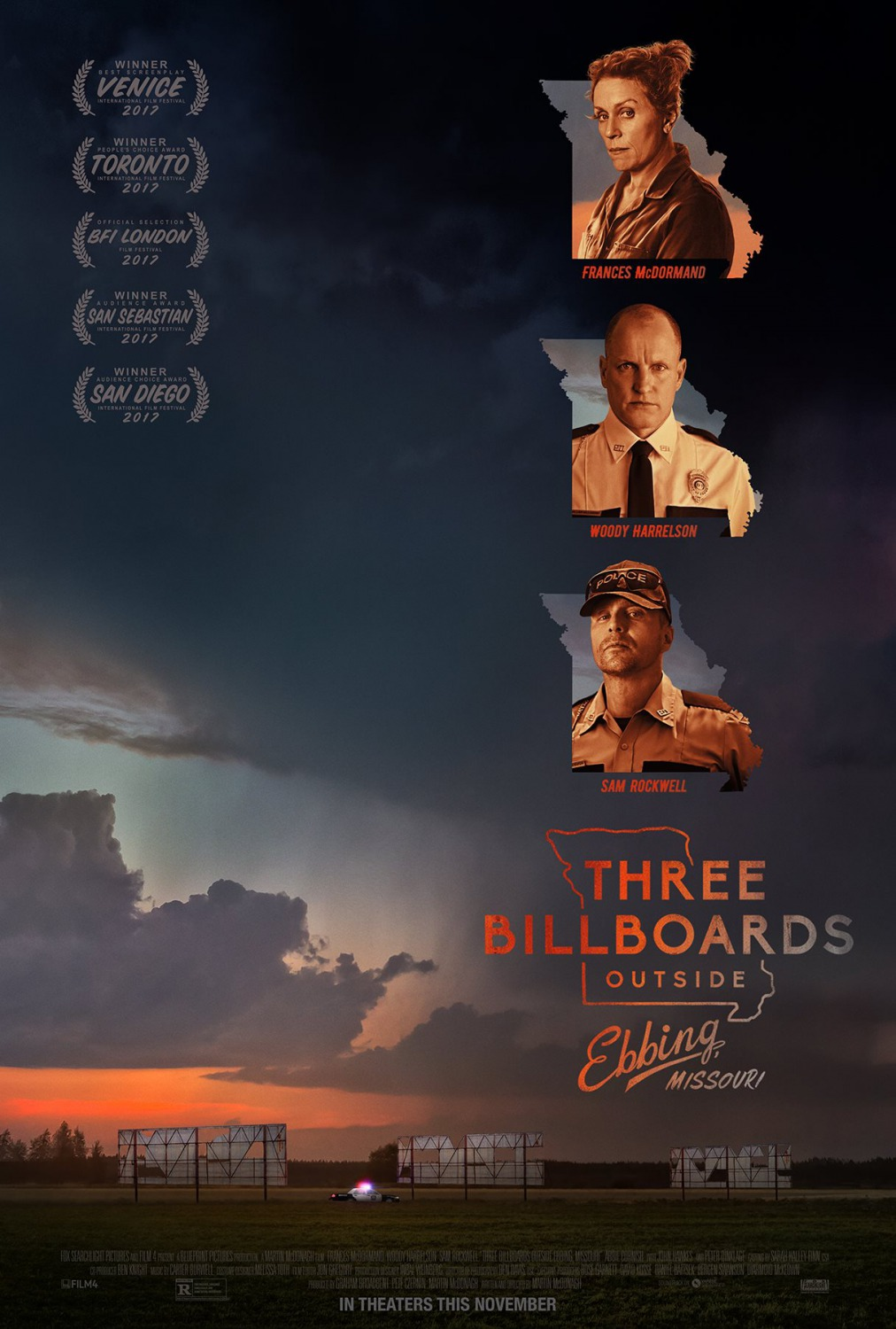Three Billboards Outside Ebbing, Missouri   (2017) dir. Martin McDonagh Rated: R image:©2017  Fox Searchlight Pictures