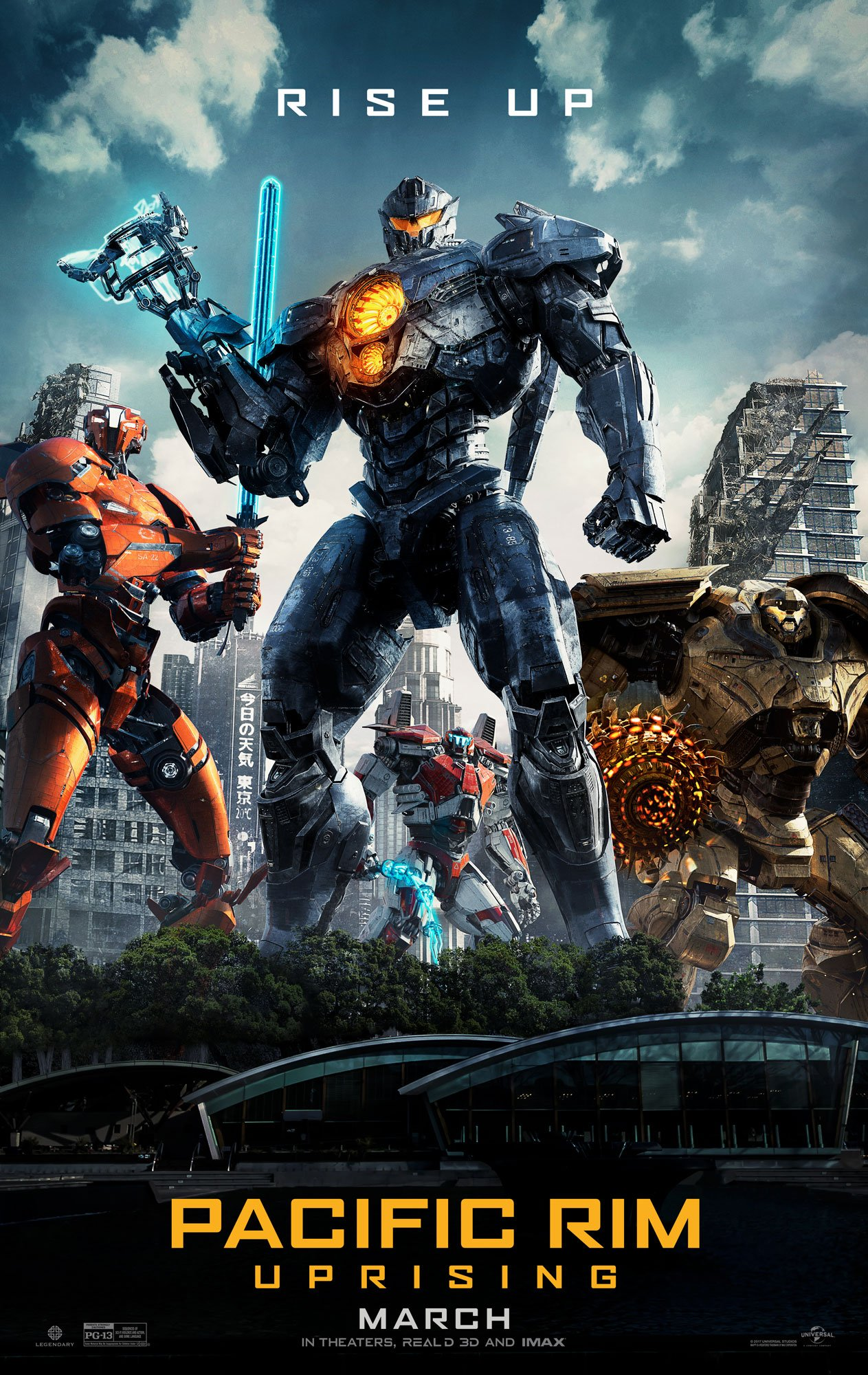 Pacific Rim Uprising   (2018) dir. Steven S. DeKnight Rated: PG-13 image:©2018  Universal Pictures