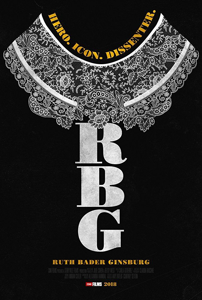 RBG   (2018) dir. Julie Cohen & Betsy West Rated: PG image:©2018  Magnolia Pictures