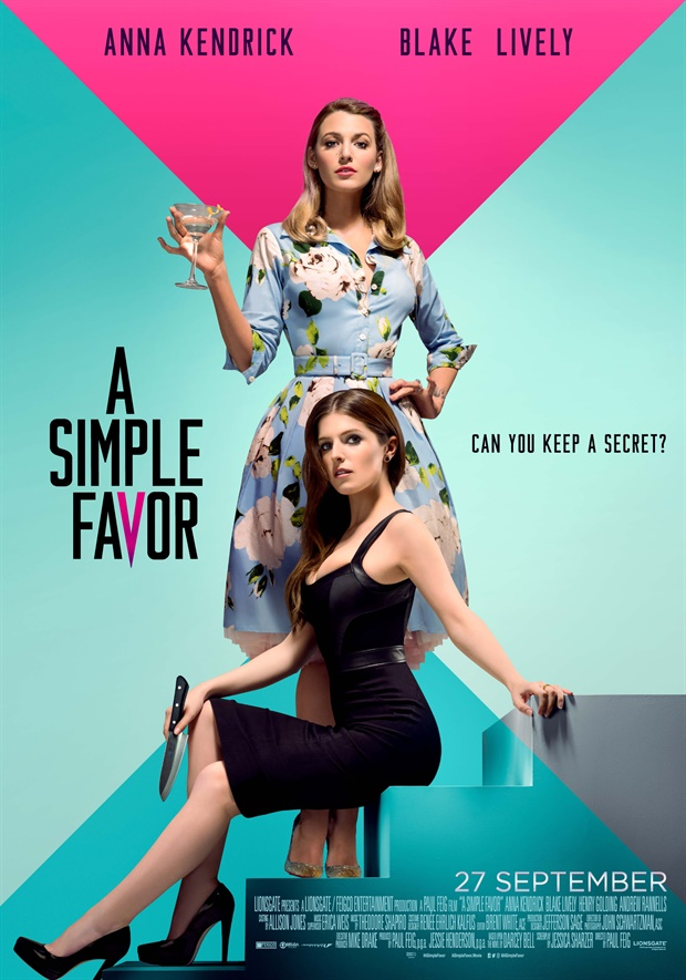 A Simple Favor   (2018) dir. Paul Feig Rated: R image: ©2018  Lionsgate
