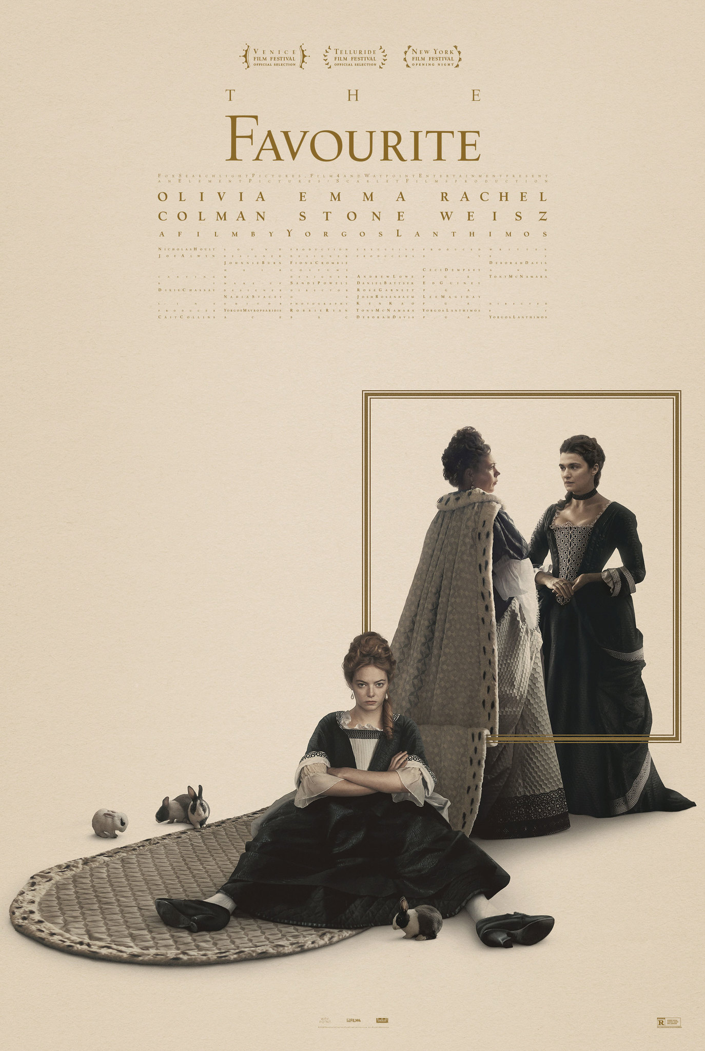 The Favourite   (2018) dir. Yorgos Lanthimos Rated: R image: ©2018  Fox Searchlight Pictures