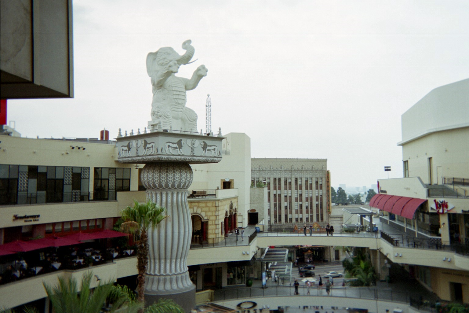 A replica from  Intolerance  at the Hollywood and Highland Shopping complex.