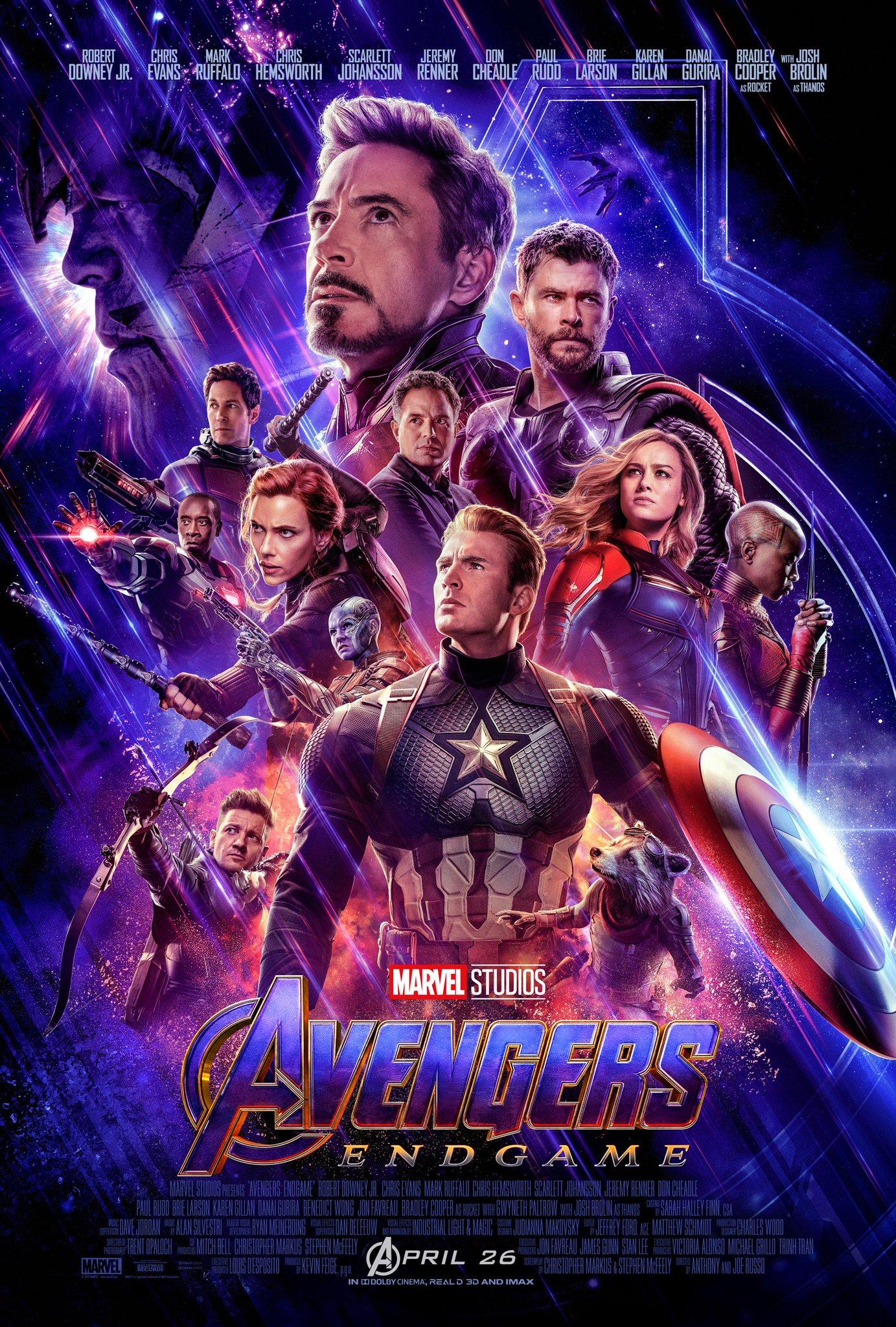 Avengers: Endgame   (2019) dir. Anthony & Joe Russo Rated: PG-13  image: ©2019  Walt Disney Studios Motion Pictures