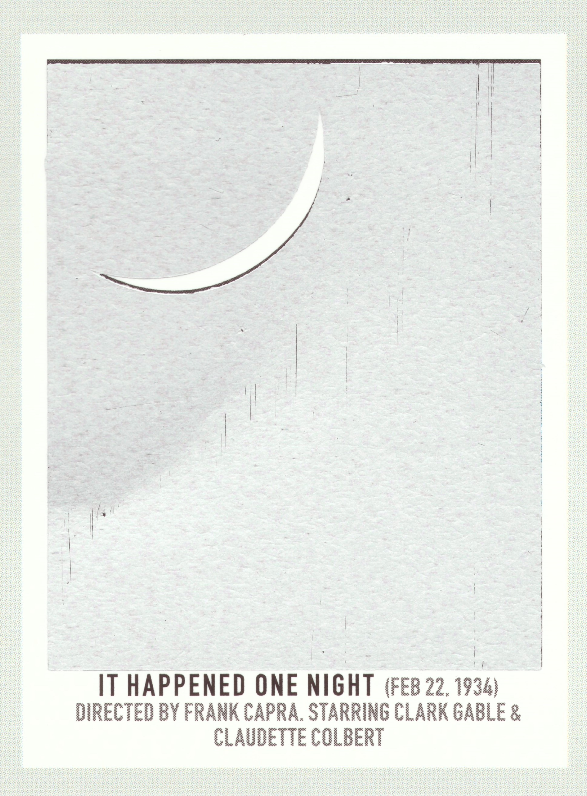 before scratch-off   It Happened One Night   (1934) dir. Frank Capra Rated: N/A image:  Pop Chart Lab
