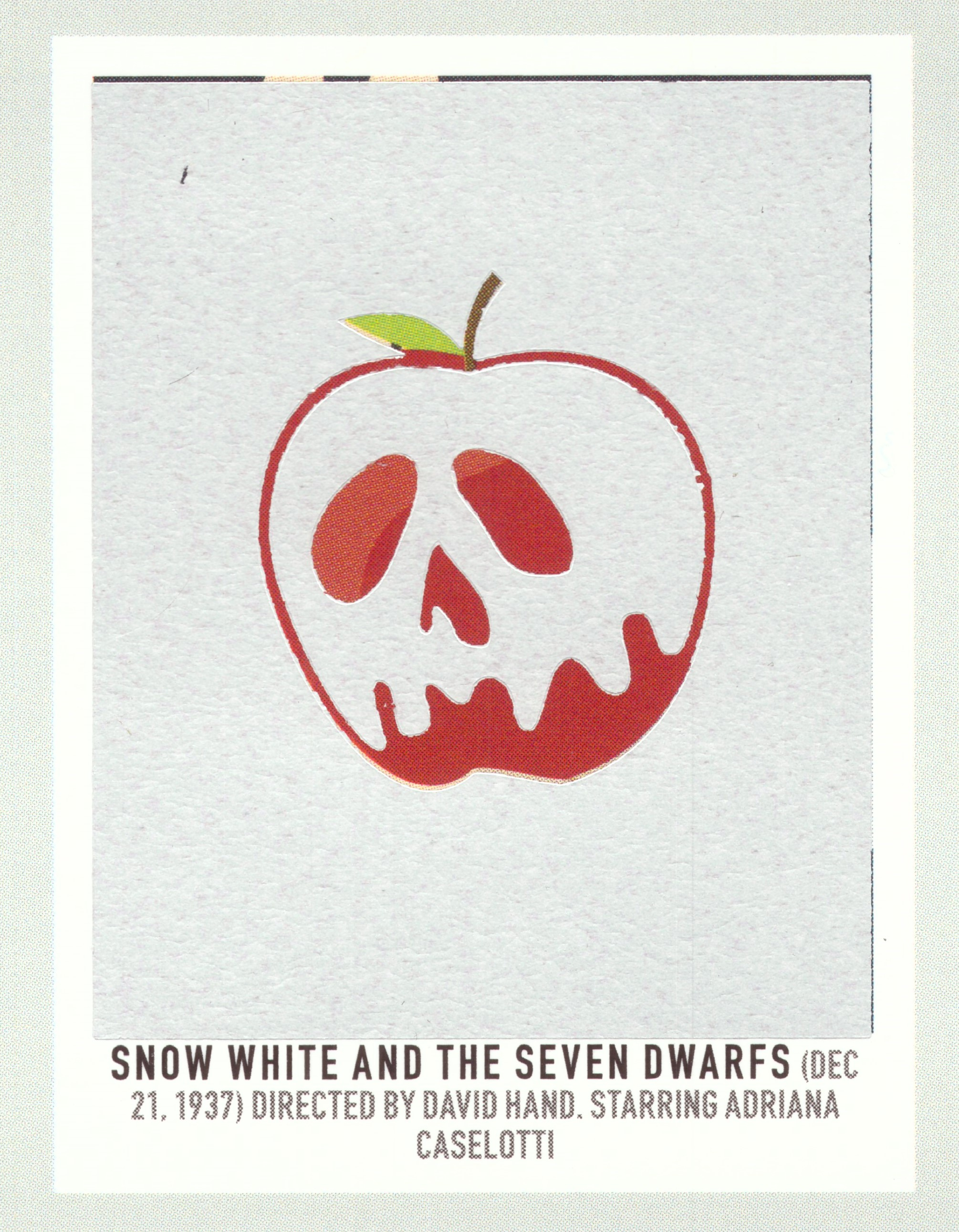 before scratch-off   Snow White and the Seven Dwarfs   (1937) dir. David Hand (supervising) Rated: N/A image:  Pop Chart Lab