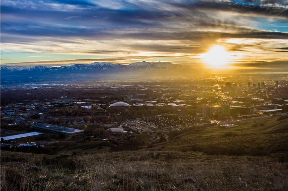 Sunset over Butte Gardens, Salt Lake City