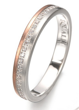 Antinous Engagement ring    in 14k gold and diamonds by Equalli