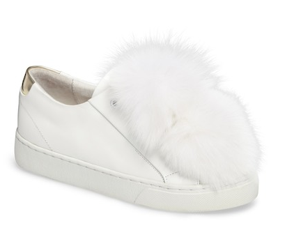 Here / NowSugar Genuine Fox Fur Slip-On Sneaker (Women)