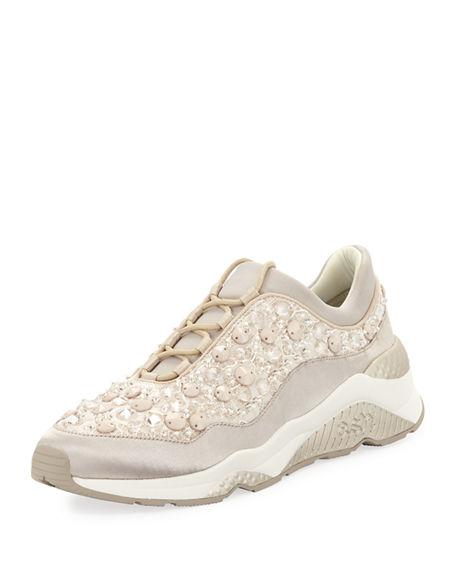 Ash Muse Beaded Crystal Sneaker   $225.00