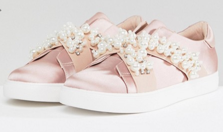ASOS VINO Wide Fit Embellished Sneakers   $39.00