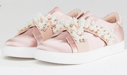 ASOS VINO Wide Fit Embellished Sneakers   $39.00