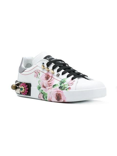 Dolce & Gabbana printed low top sneakers   $1,309