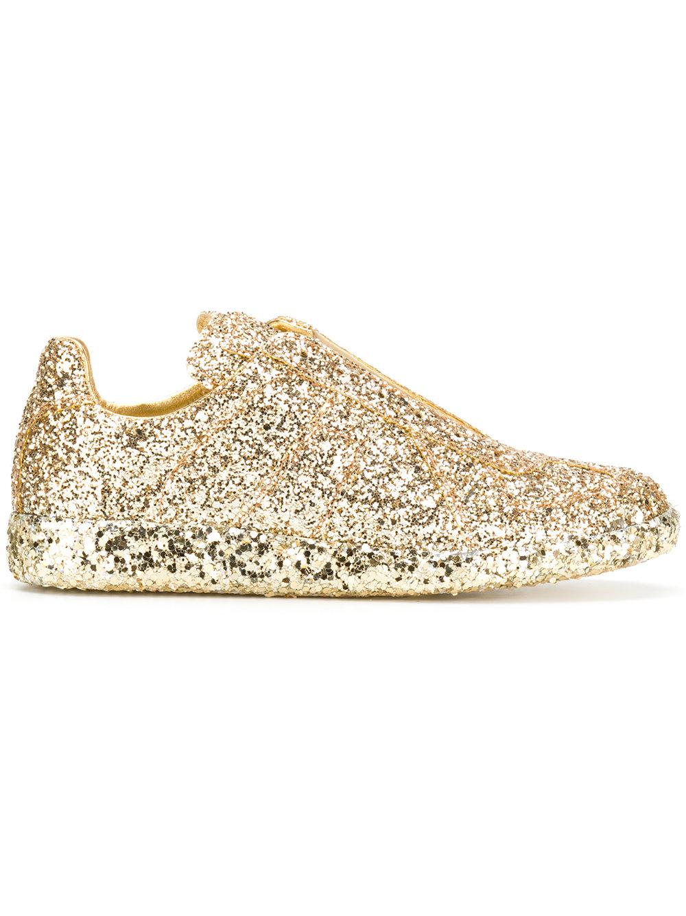 Maison Margiela glitter slip-on sneakers   $725