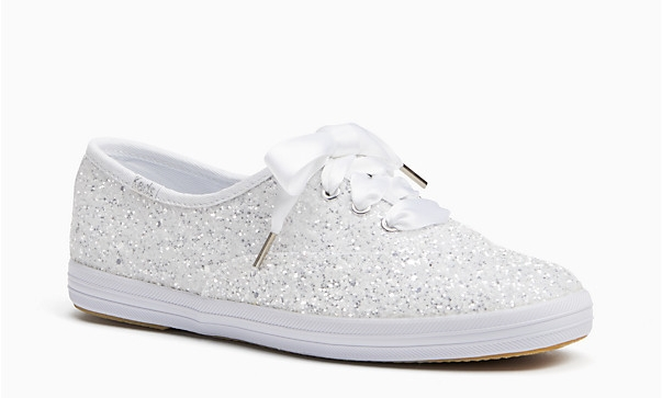 keds x kate spade new york glitter sneakers     $85