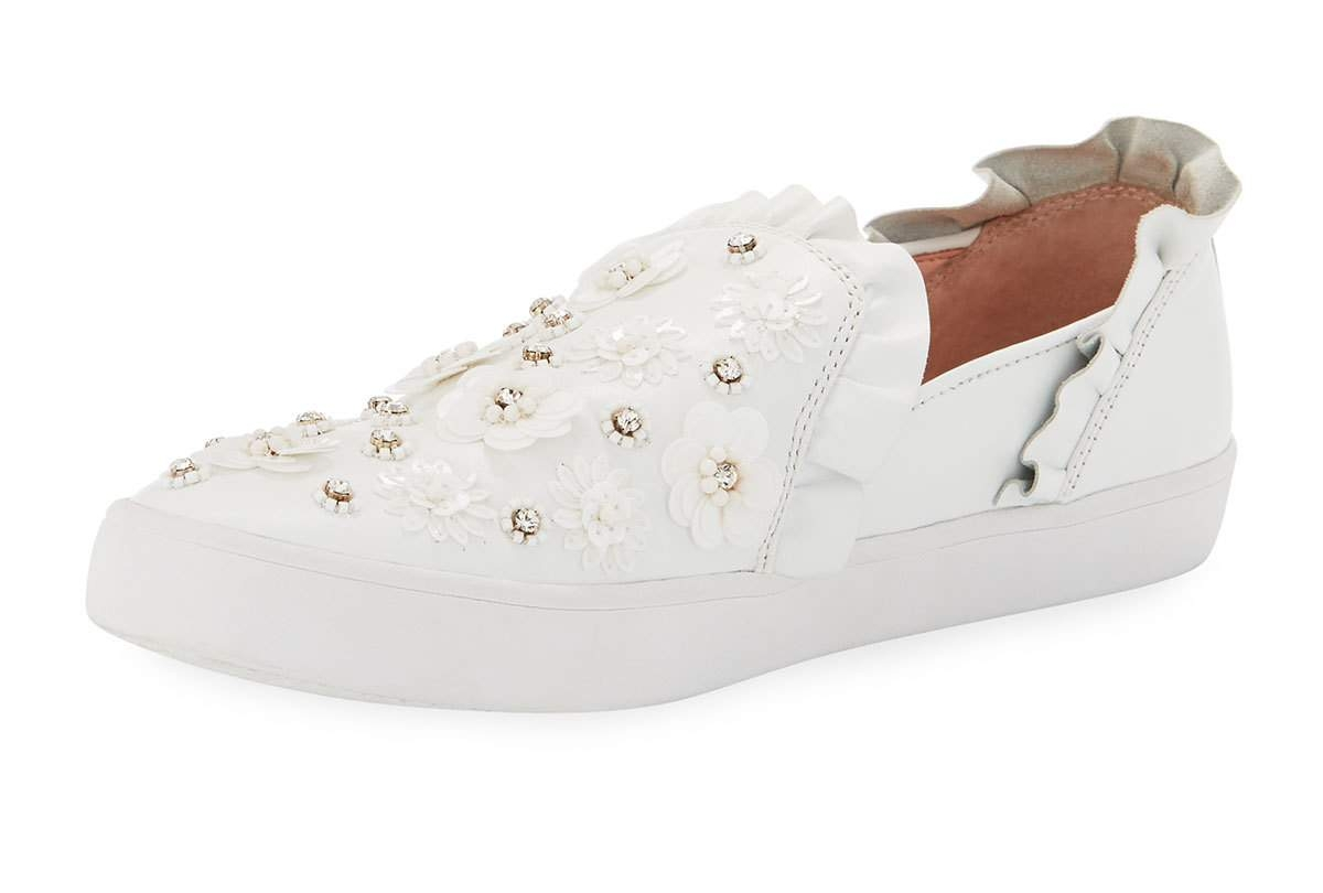 kate spade new york louise floral-embellished sneaker    $150