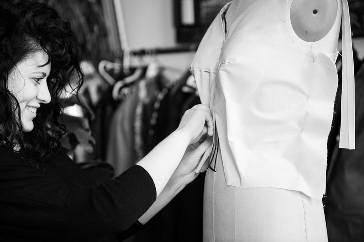 How I Make The First Drape of a Wedding Dress- Getting Ready For The First Fitting - Many of my brides love learning about what it takes to make their dress and so I would like to share a little bit more in detail this part of my process…