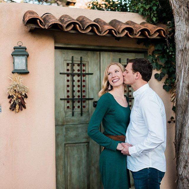 Yesterday I got to walk around a quiet street in Santa Fe with these cuties! Our shoot was supposed to start earlier but their flight got canceled because of the power outage at the ABQ support so instead they flew into Amarillo and DROVE to Santa Fe! What a day! Im so excited to be shooting their wedding later this Spring!